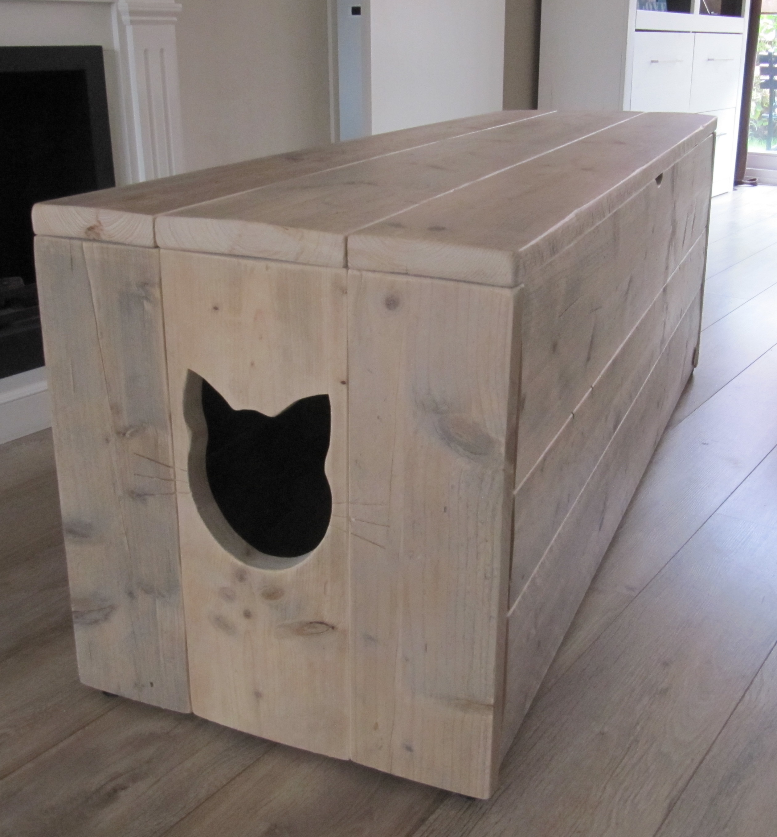 Kattenbak Kast Marianne Van Gebruikt Steigerhout