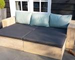 Loungebank met rechte zijleuningen Thirsa An 1