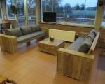 Loungebank met rechte zijleuningen Thirsa DDH 1
