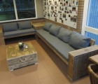 Loungebank met hoektafel DDH 1
